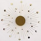 Silver Disc Metal Wall Art Mirror