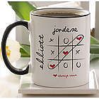 Personalized Heart Love Always Wins Coffee Mug