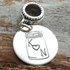Mason Jar of Love Personalized Charm Bead