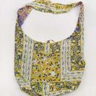 Yellow Pansies Block Print Bag