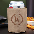 Statesman Personalized Beer Koozie in Leatherette