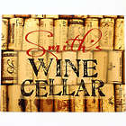Personalized Wine Cellar Corks 14x11 Aluminum Sign
