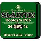 Slainte Classic Personalized Pub Coaster Set