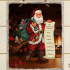 Personalized Santa's List Slate Plaque