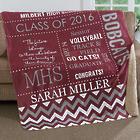 Graduate's Personalized School Memories Premium Sherpa Blanket