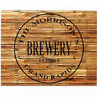 Personalized Brewery Faux Wood Aluminum Bar Sign
