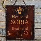 Our House Personalized Slate Plaque