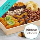 Delicious Wishes Gift Tray with Get Well Ribbon