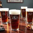 Classic Monogram Pint Glasses