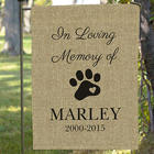 Pet Memorial Personalized Burlap Garden Flag