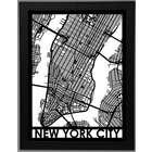 Precision Cut Framed Street Map Poster