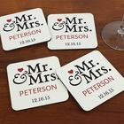 Mr. and Mrs. Personalized Coasters