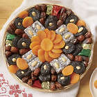 Fruit And Almonds Tray 1 Lb. Net wt