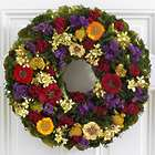 "18"" Secret Zinnia Garden Floral Wreath"