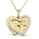 Gold Over Sterling Miracle of Life Necklace