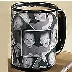 Black Personalized Photo Collage Mug