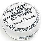 Imagination Is More Powerful Than Knowledge Quote Paperweight