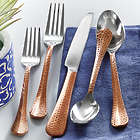 Hammered Copper Flatware 20 Piece Set