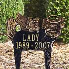 Personalized Pet Memorial Angel Lawn Plaque