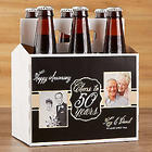 Personalized Anniversary Beer Bottle Carrier