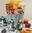 Deluxe Snowman Snacks Gift Basket