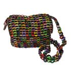 Joyful Creation Recycled Soda Pop-Top Shoulder Bag in Brown