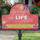 Spring Flowers Personalized Yard Stake with Magnet