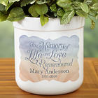 Personalized In Memory Outdoor Flower Pot
