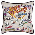 Embroidered Ski Sun Valley Pillow