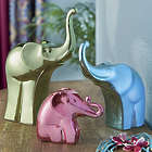 Bright Metallic Elephant Figurine Set