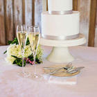 Wedding Champagne Flutes and Cake Server