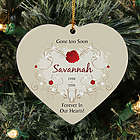 Personalized Ceramic Heart Memorial Ornament