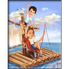 Custom Photo Castaways Caricature Art