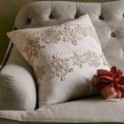 Shimmering Snowflake Pillow