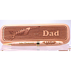 Engraved Wood Pen and Box for Dad