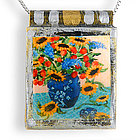 Sunflower Still Life Necklace