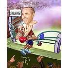 Personalized Boxer Caricature Art Print