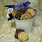 Graduation Cookies and Teddy Bear Gift Bucket