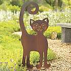 That Cat Steel Garden Sculpture