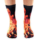 Men's Sublimated Flame Crew Socks