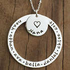 Grandma's Personalized Necklace with Heart Washer