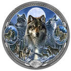 "Twilight Guardians Heirloom Porcelain 12"" Wolf Plate"