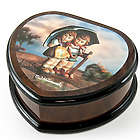 Heart Shape Painted Hummel Music Jewelry Box
