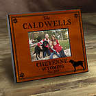 Personalized Cabin Style Labrador Picture Frame