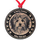 Custom Pet Memorial Photo Maple Wood Ornament