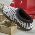 Velda White Zebra Slipper