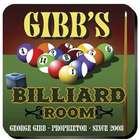 Personalized Billiards Coasters