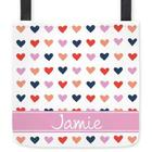 Custom Organic Hearts Tote Bag