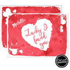 Lucky I Found You Personalized Cutout Greeting Card