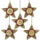 Scarlet Stars Beaded Ornaments
